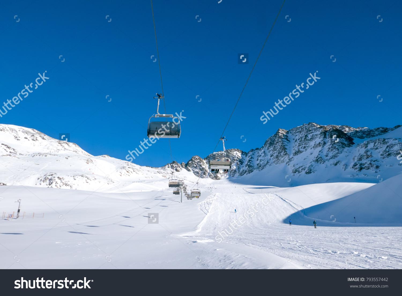 sunny holiday ski resort solda sulden stock photo (edit now
