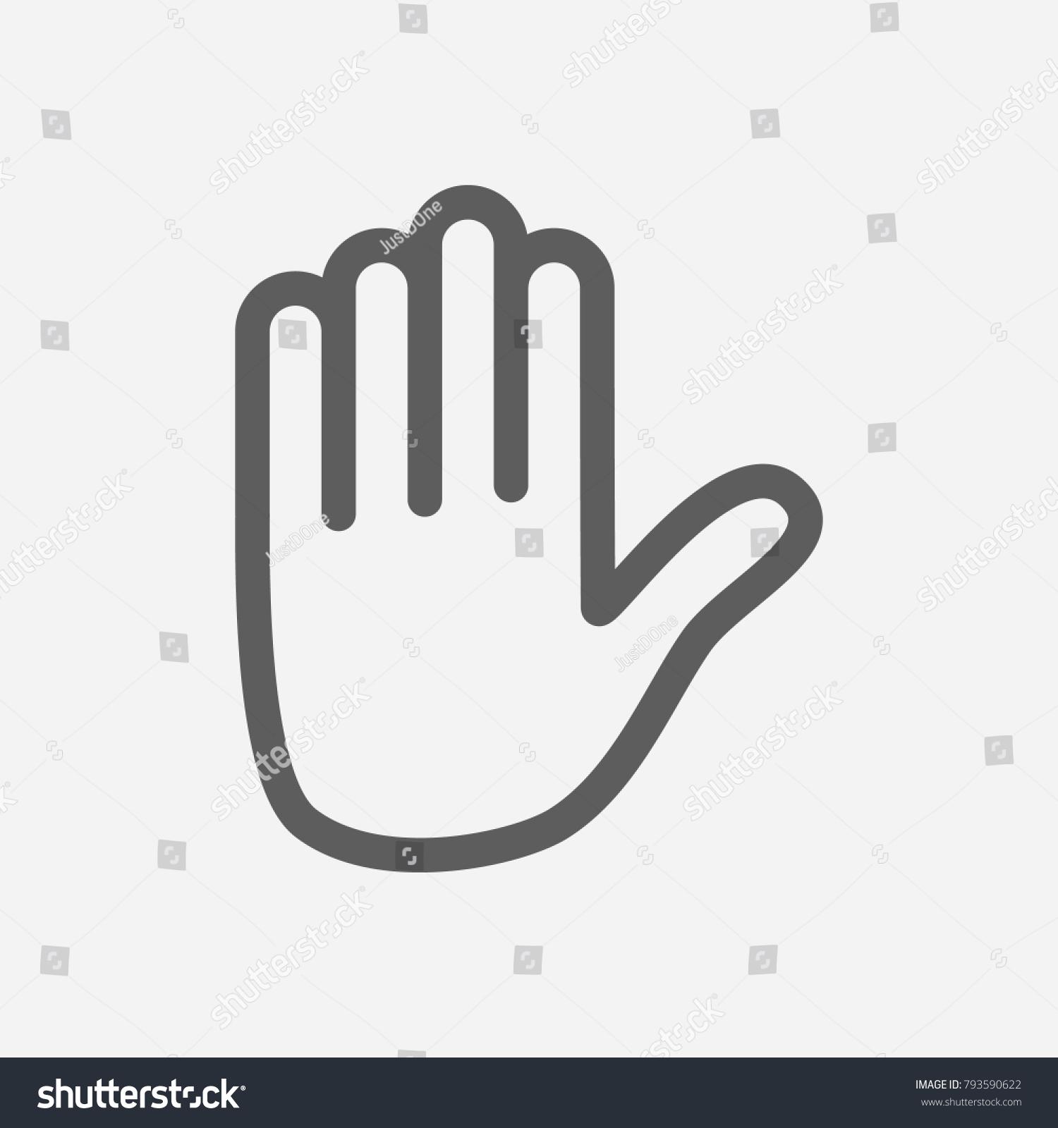 Emoji hand symbols gallery symbol and sign ideas emoji hand icon line symbol isolated stock illustration 793590622 emoji hand icon line symbol isolated illustration buycottarizona
