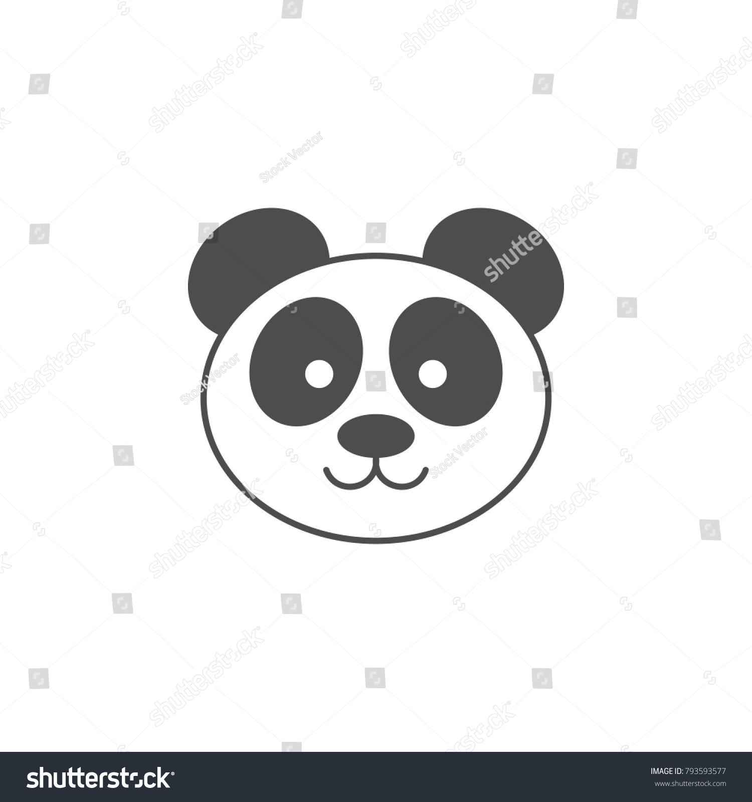 Panda Icon Elements Of Chinese Culture Icon Premium Quality