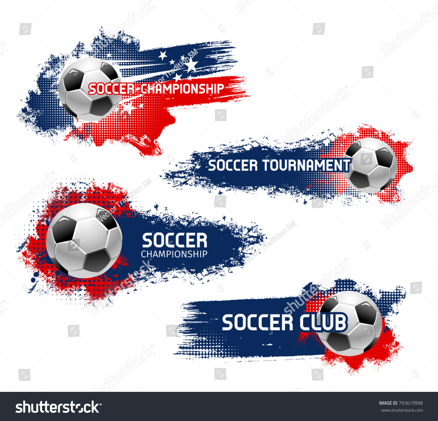 Soccer championship football sport game tournament stock vector soccer championship or football sport game tournament vector icons set of flying ball vector symbol biocorpaavc Choice Image