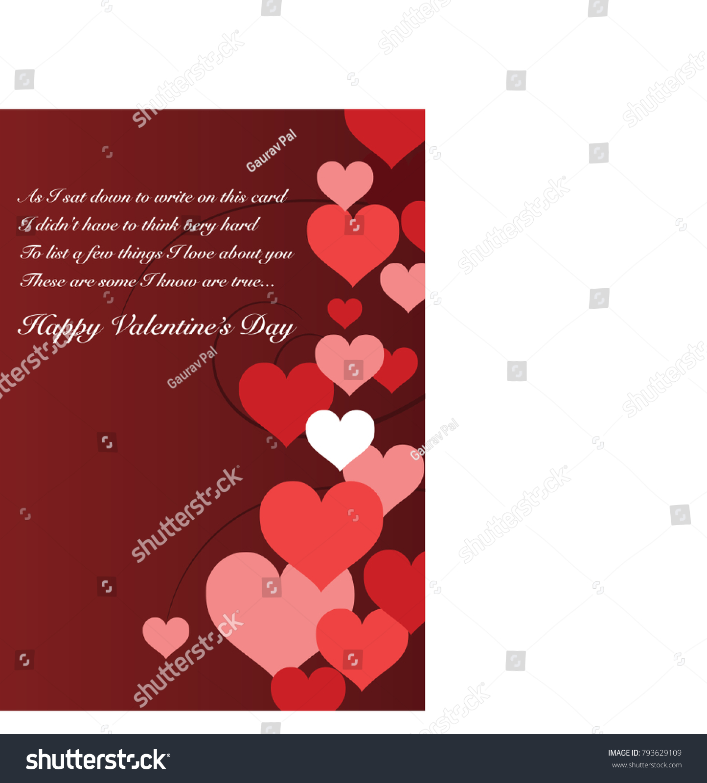 Love Filled Greeting Card Your Special Stock Vector Royalty Free
