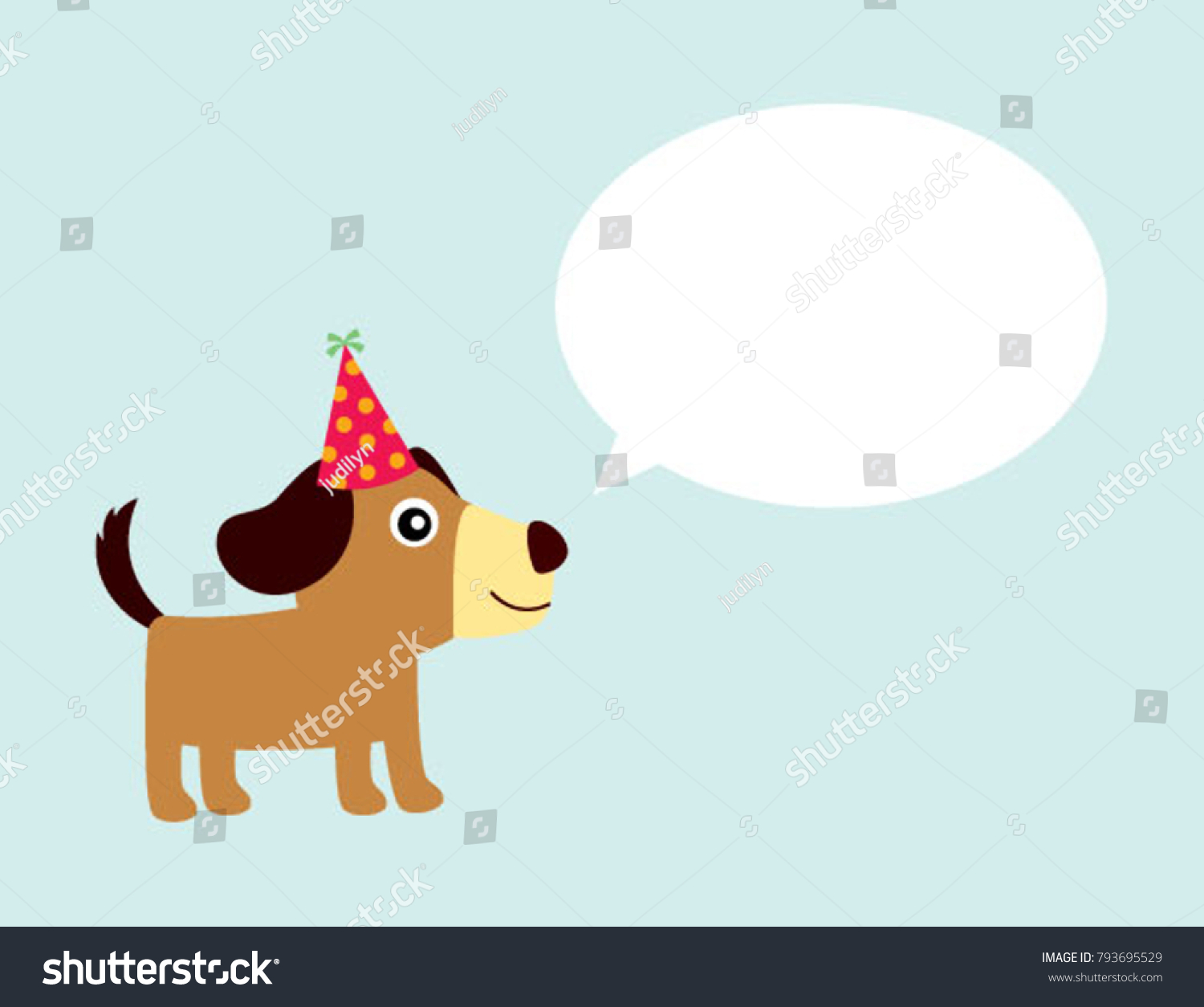 Cute puppy dog birthday greeting card stock vector 793695529 cute puppy dog birthday greeting card vector kristyandbryce Choice Image