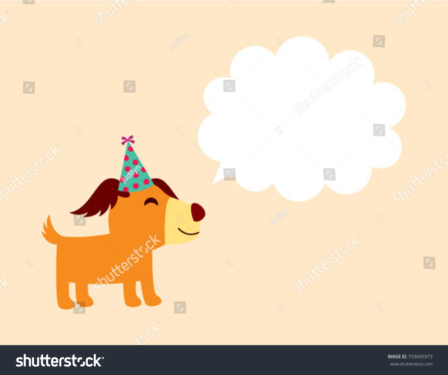 Cute happy puppy dog birthday greeting stock vector 793695973 cute happy puppy dog birthday greeting card vector kristyandbryce Choice Image