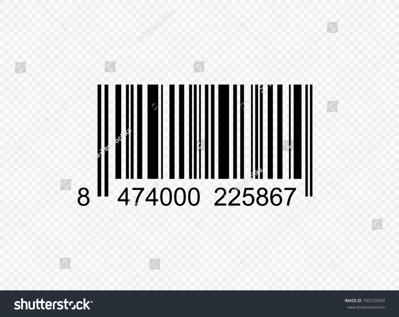 Realistic Barcode Black Icon Barcode Vector Stock-Vektorgrafik ...