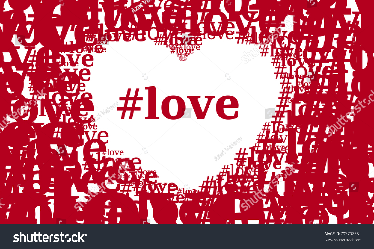 Wallpaper Valentines Day Love Letter Hashtag Stock Vector Royalty