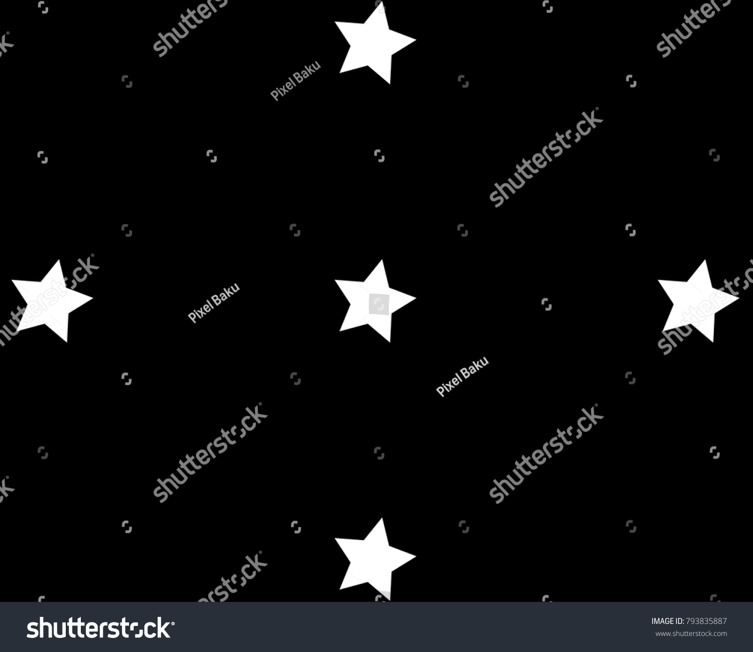 Star Pattern White And Black Background Chaotic Elements Abstract Geometric Shape Texture