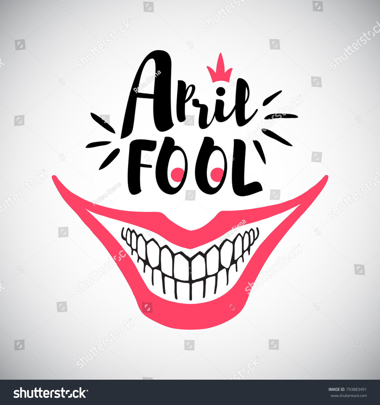 April Fools Day Greeting Card Typographic Stock Vector Hd Royalty