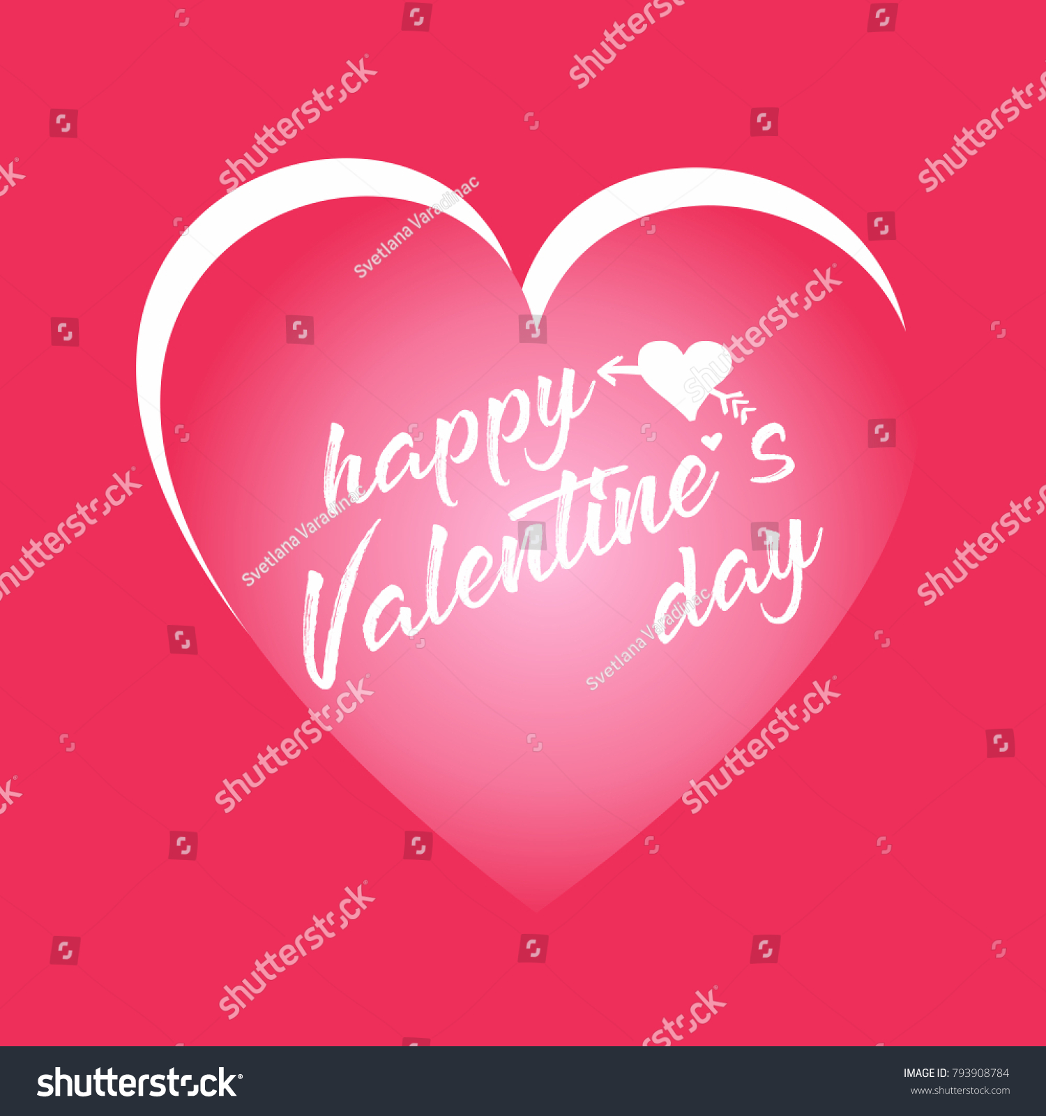 Happy Valentines Day Card Good Greeting Stock Vector 793908784