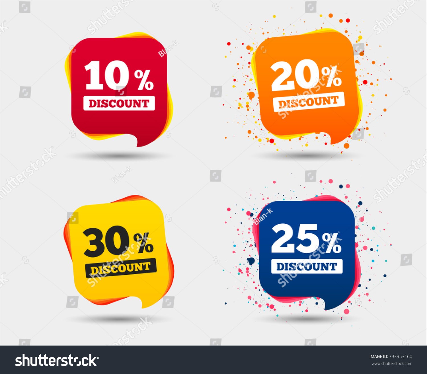 Sale discount icons special offer price stock vector 793953160 special offer price signs 10 20 25 and 30 biocorpaavc Choice Image