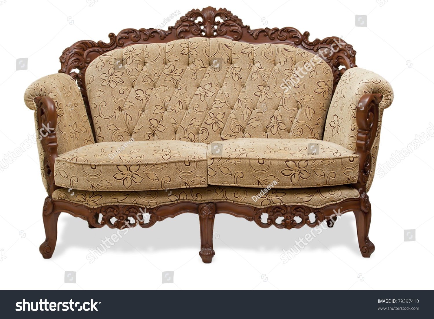 leather and wood sofa. Classical Carved Wooden Sofa Upholstered In Leather And Wood