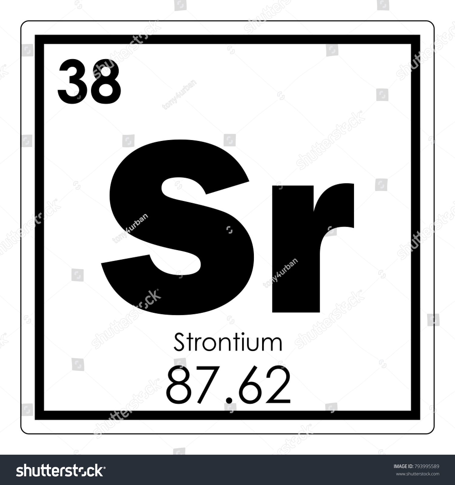 Strontium chemical element periodic table science stock strontium chemical element periodic table science symbol biocorpaavc