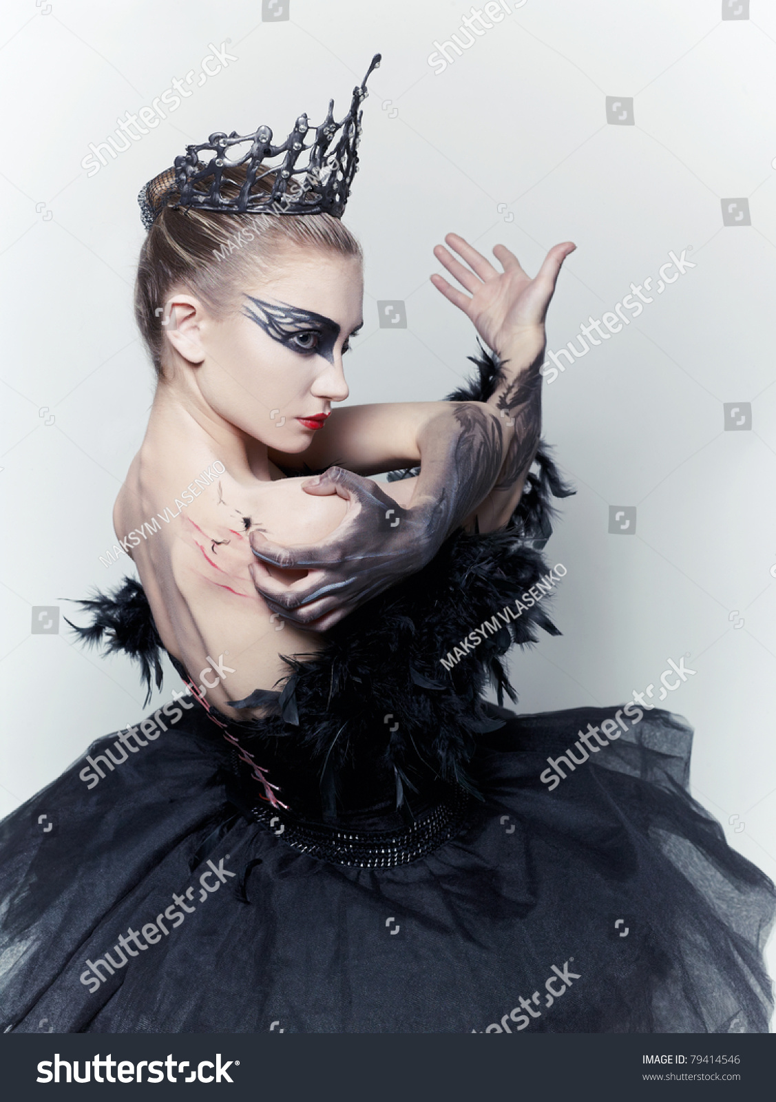 Ballerina   black swan. Ballerina Black Swan Stock Photo 79414546   Shutterstock