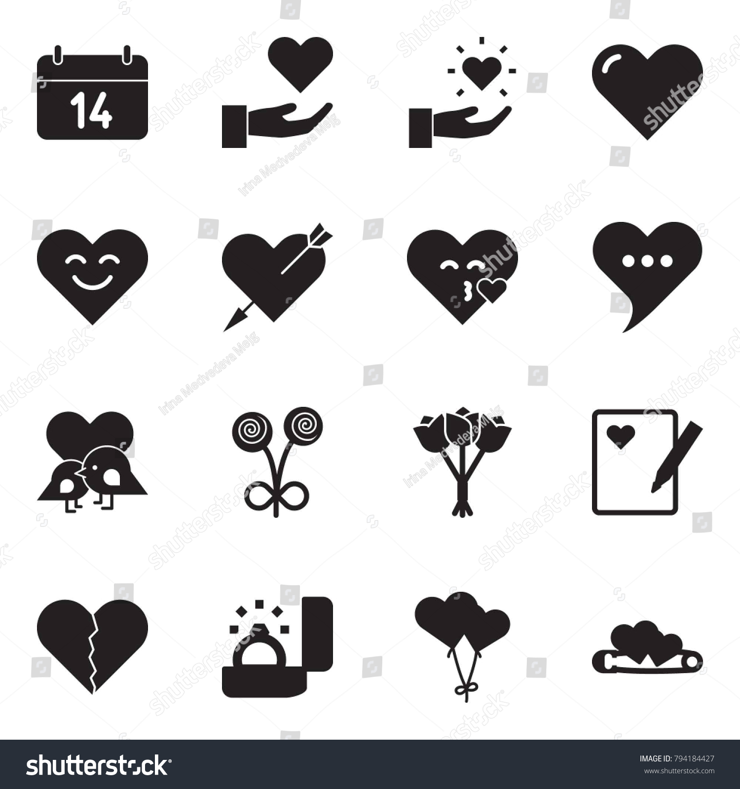 Kiss message symbol gallery symbol and sign ideas solid black vector icon set 14 stock vector 794184427 shutterstock solid black vector icon set 14 biocorpaavc