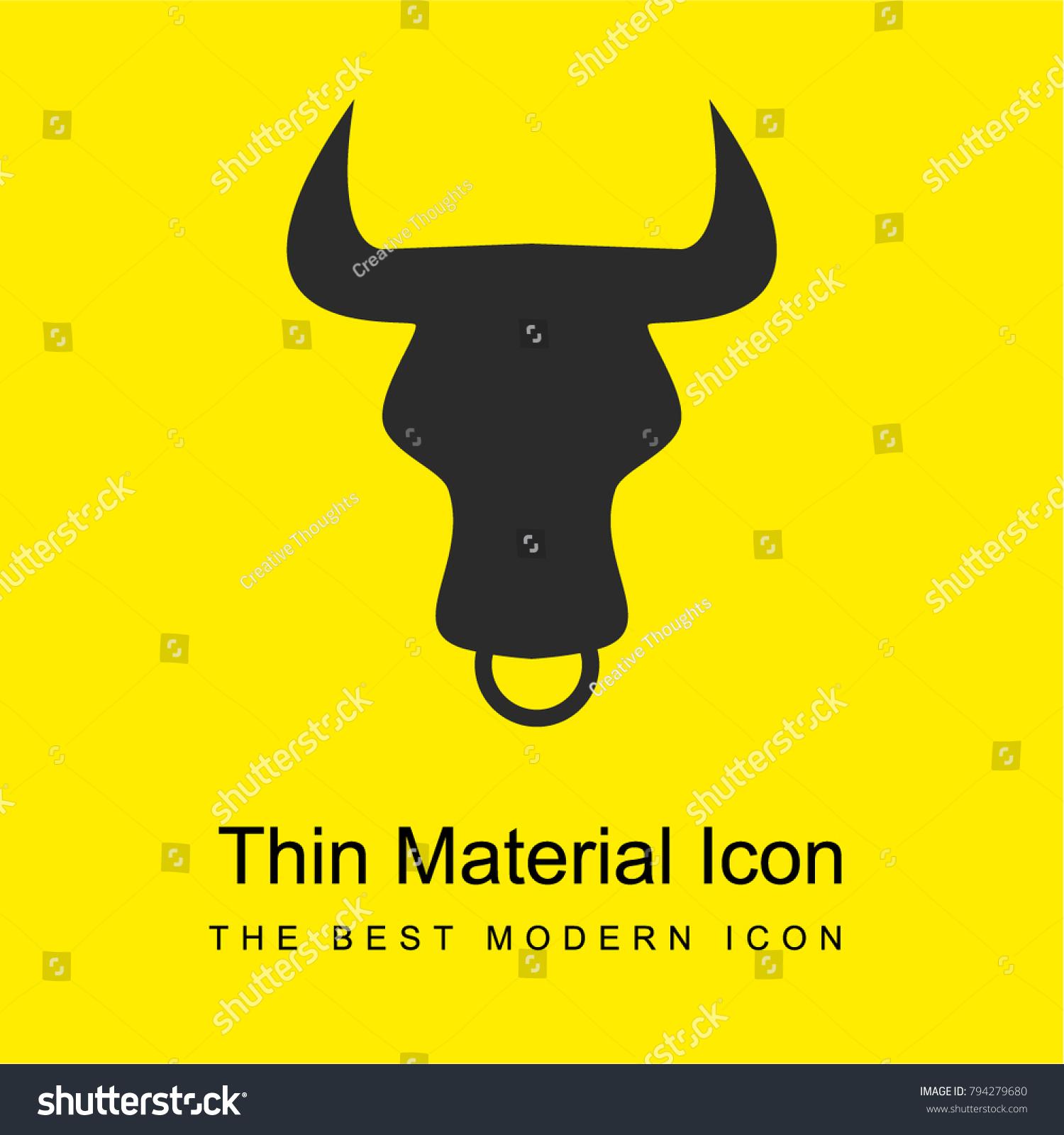 Taurus Zodiac Symbol Bull Head Front Stock Vector Royalty Free