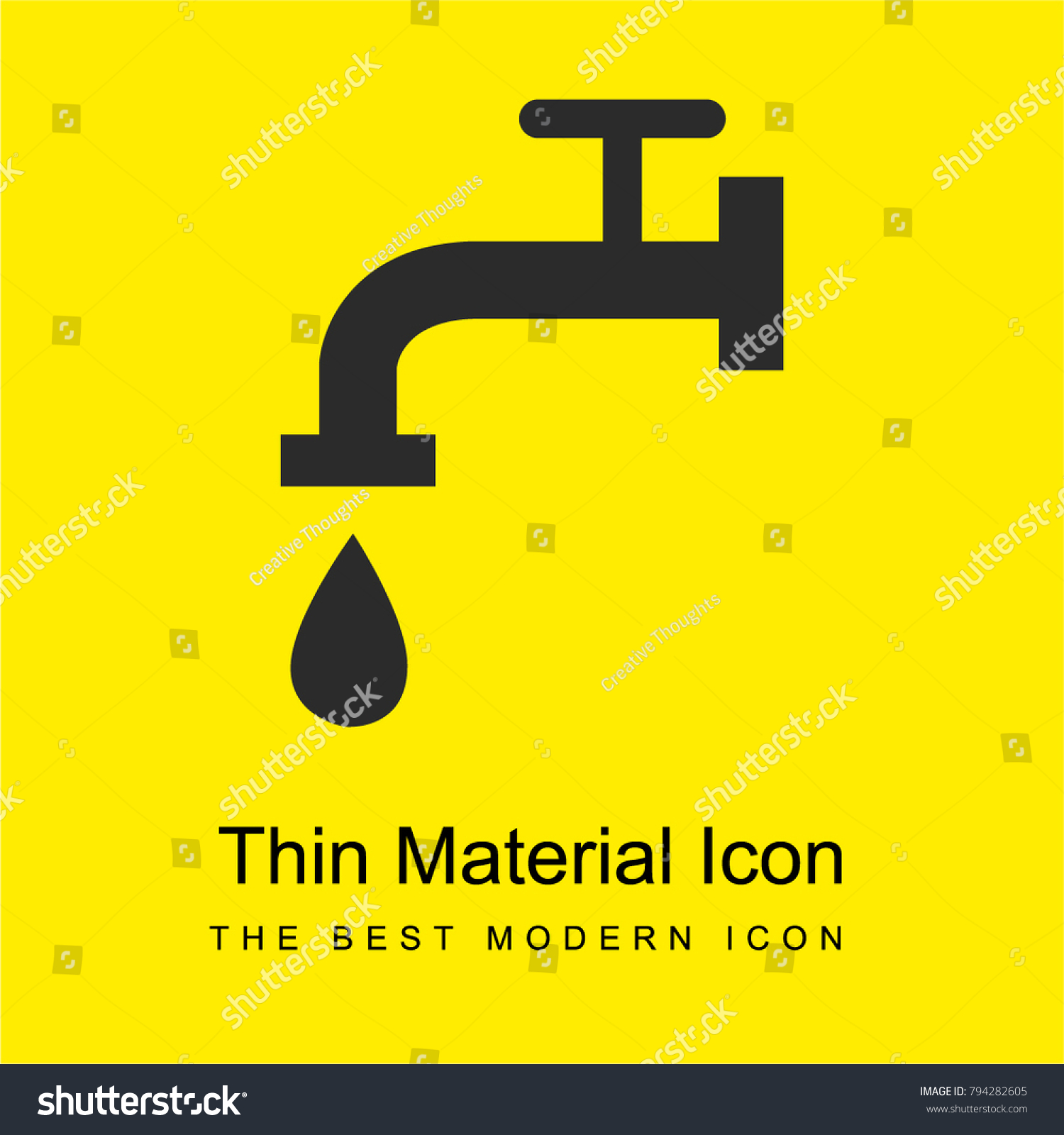 Faucet Side View Falling Drop Water Stock Vector 794282605 ...