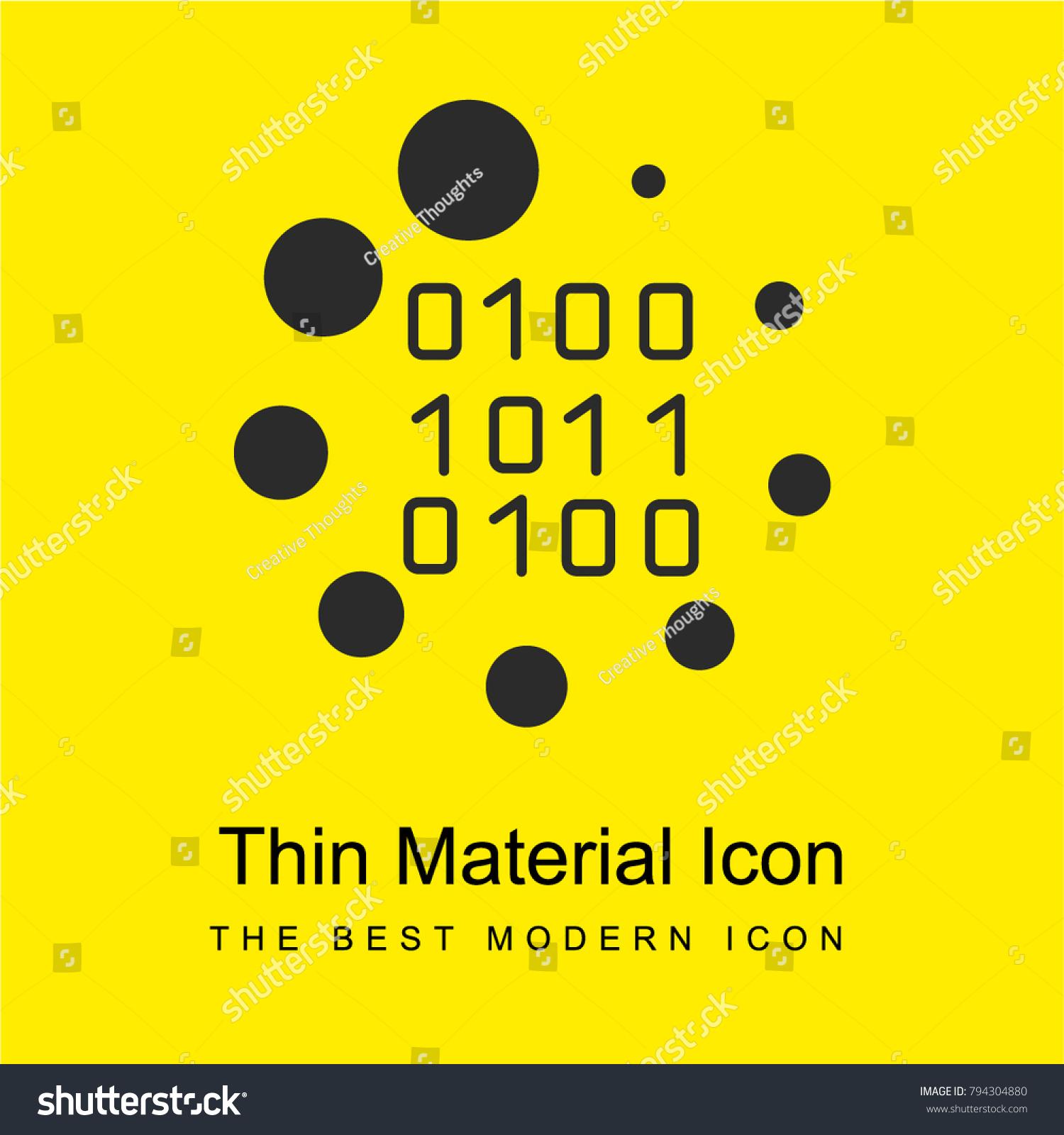 Binary code loading symbol bright yellow stock vector 794304880 binary code loading symbol bright yellow material minimal icon or logo design biocorpaavc Image collections