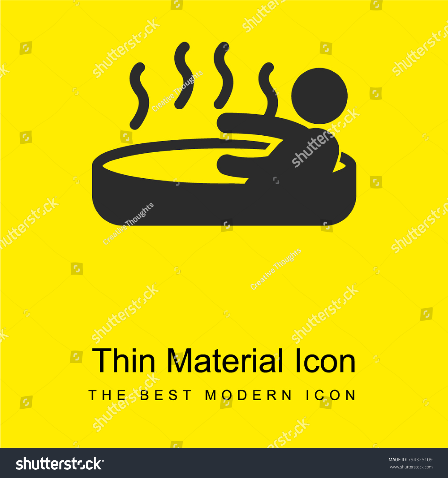 Person Enjoying Jacuzzi Hot Water Bath Stock Vector (Royalty Free ...