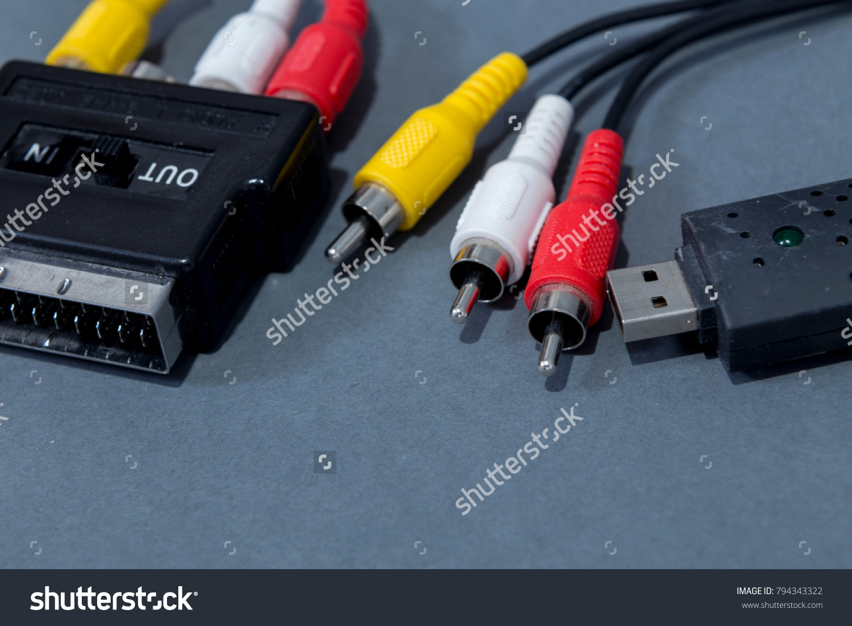 tri-color Cable for video | EZ Canvas