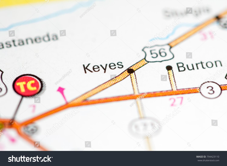 Keyes Oklahoma Usa On Map Stock Photo Edit Now 794423110