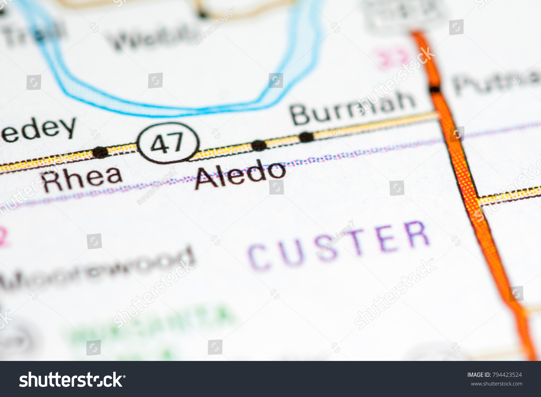 Aledo Oklahoma Usa On Map Stock Photo Edit Now 794423524