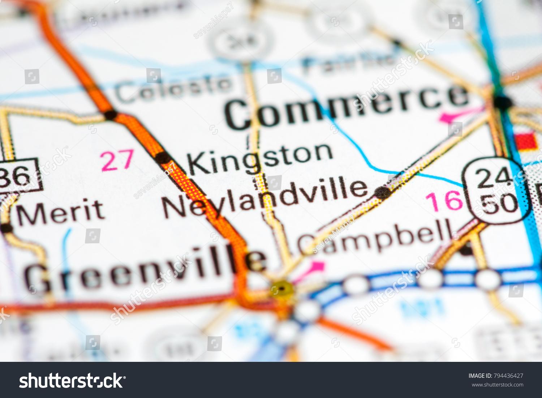 Kingston Tx Map Kingston Texas Usa On Map Stock Photo (Edit Now) 794436427