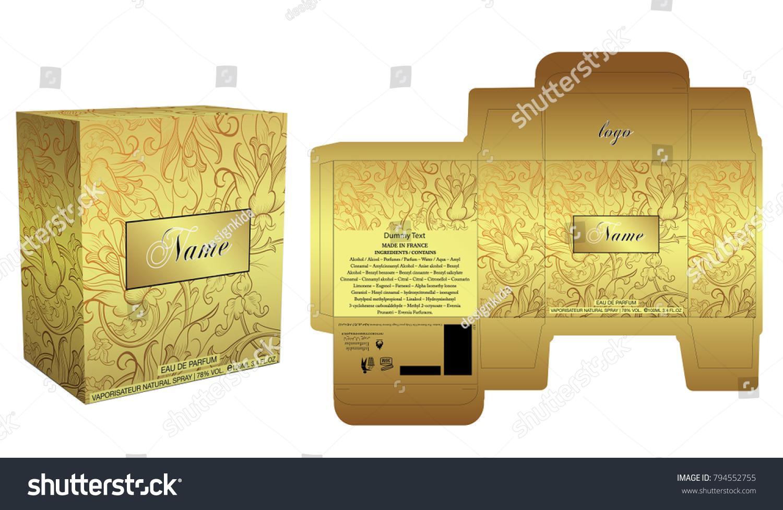 packaging design perfume luxury box design stock vector royalty