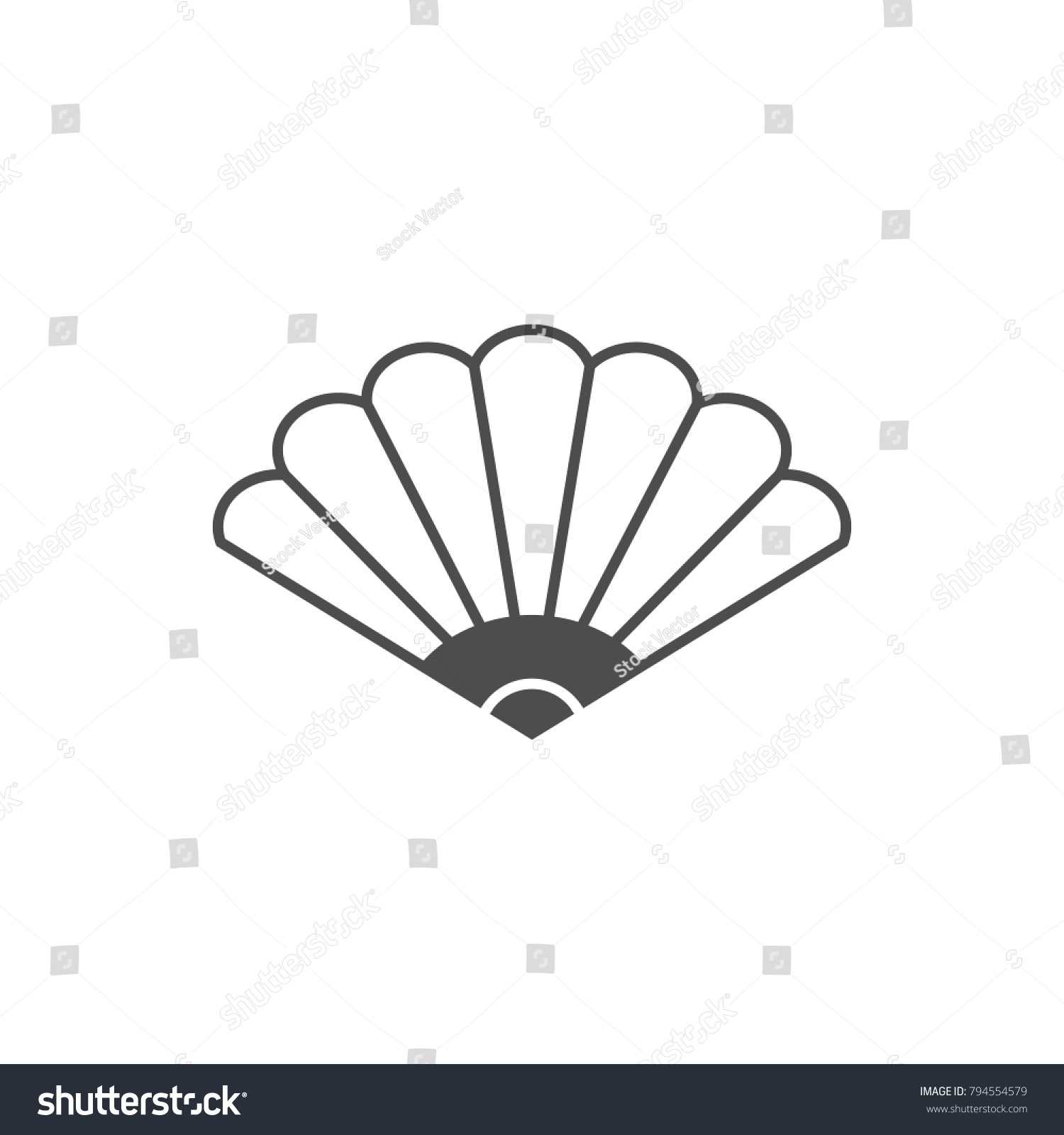 Fan Icon Elements Chinese Culture Icon Stock Illustration 794554579
