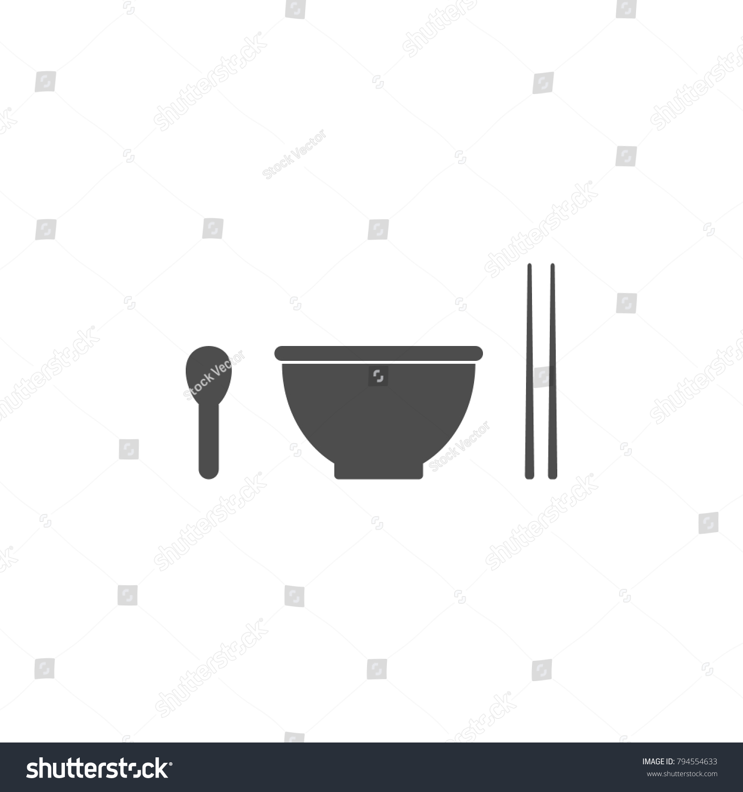 Spoon cup sticks icon elements chinese stock illustration elements of chinese culture icon premium quality graphic buycottarizona