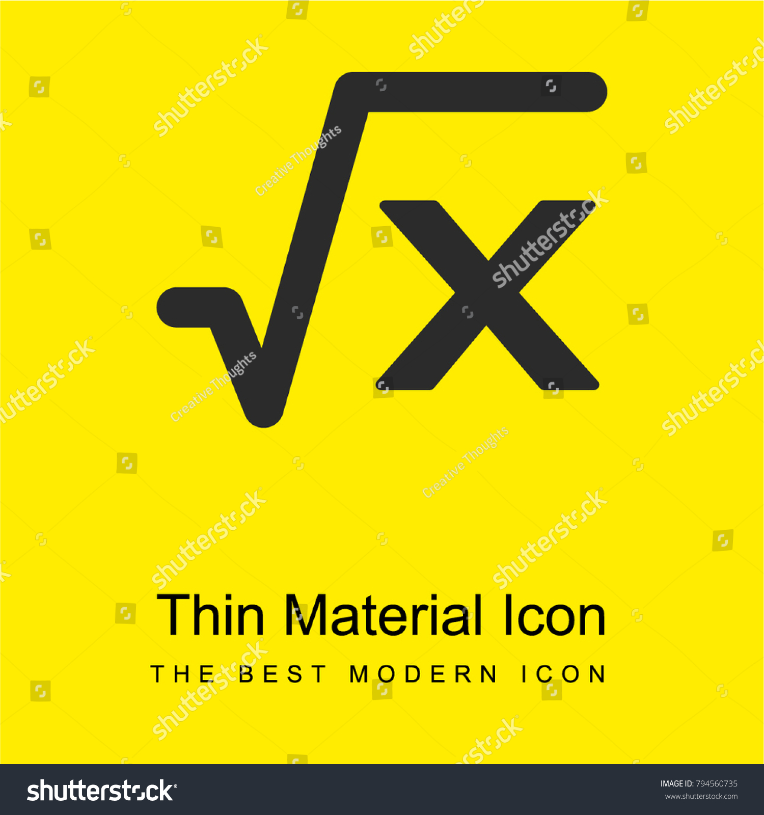 Square root x math formula bright stock vector 794560735 shutterstock square root of x math formula bright yellow material minimal icon or logo design biocorpaavc Image collections