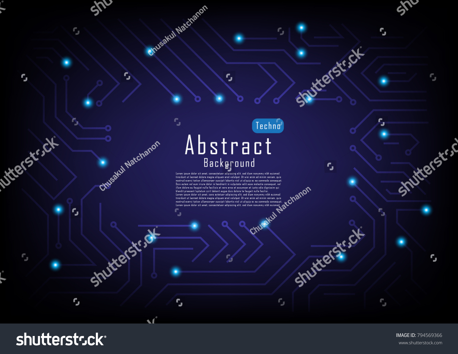 Vector Circuit Board Background Ez Canvas With Place For Text