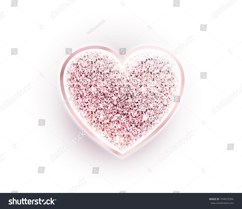 Happy Valentines Day Diamond Heart Rose Stock-Vektorgrafik ...