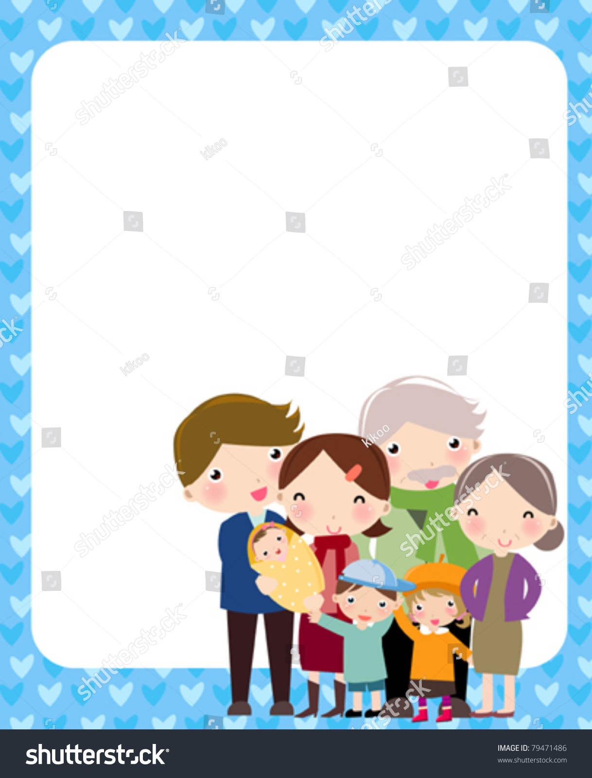Kids Family Picture Frame Clipart