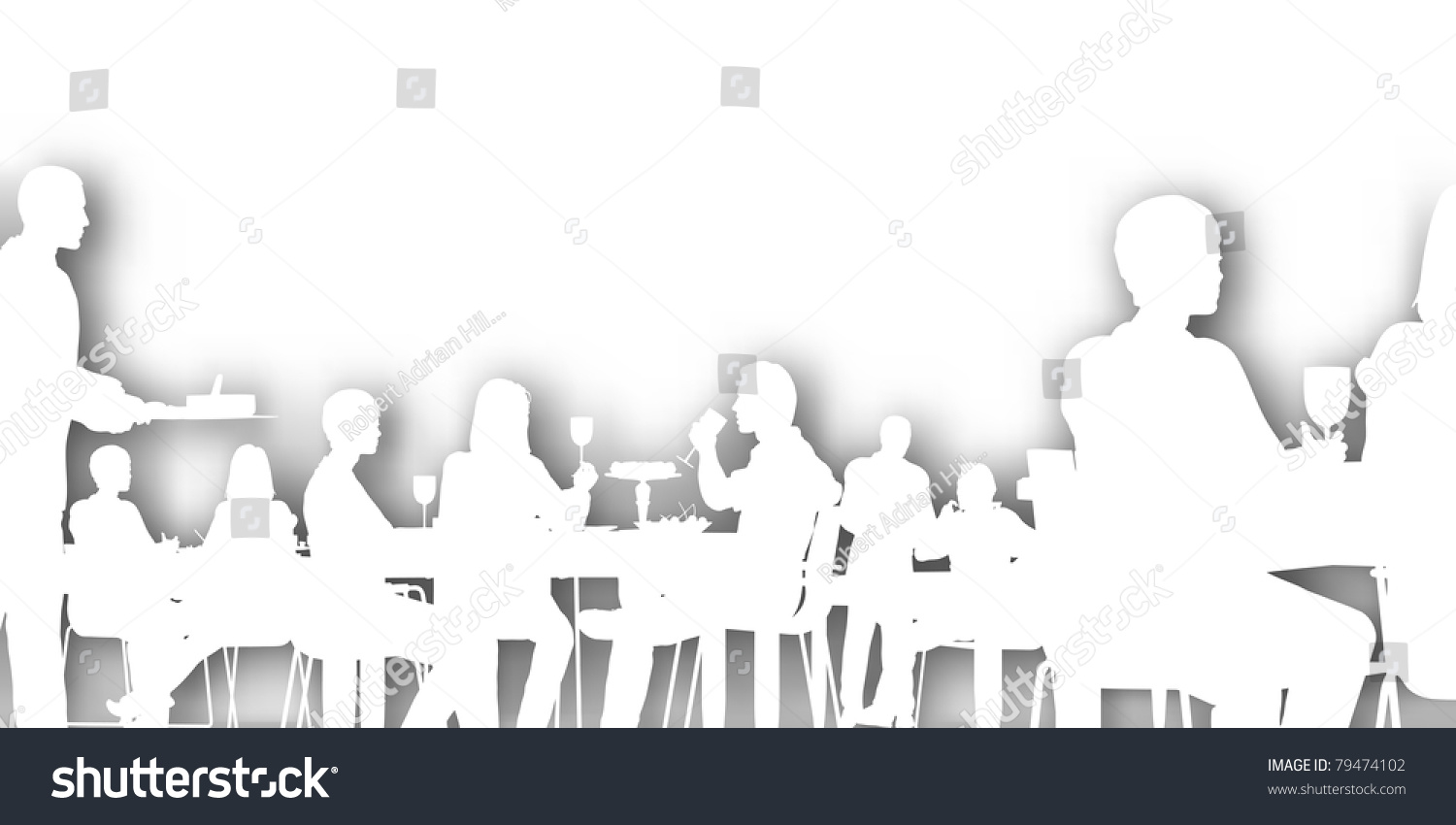 Restaurant Background With People Editable Vector Cutout People Dining Restaurant Stock Vector