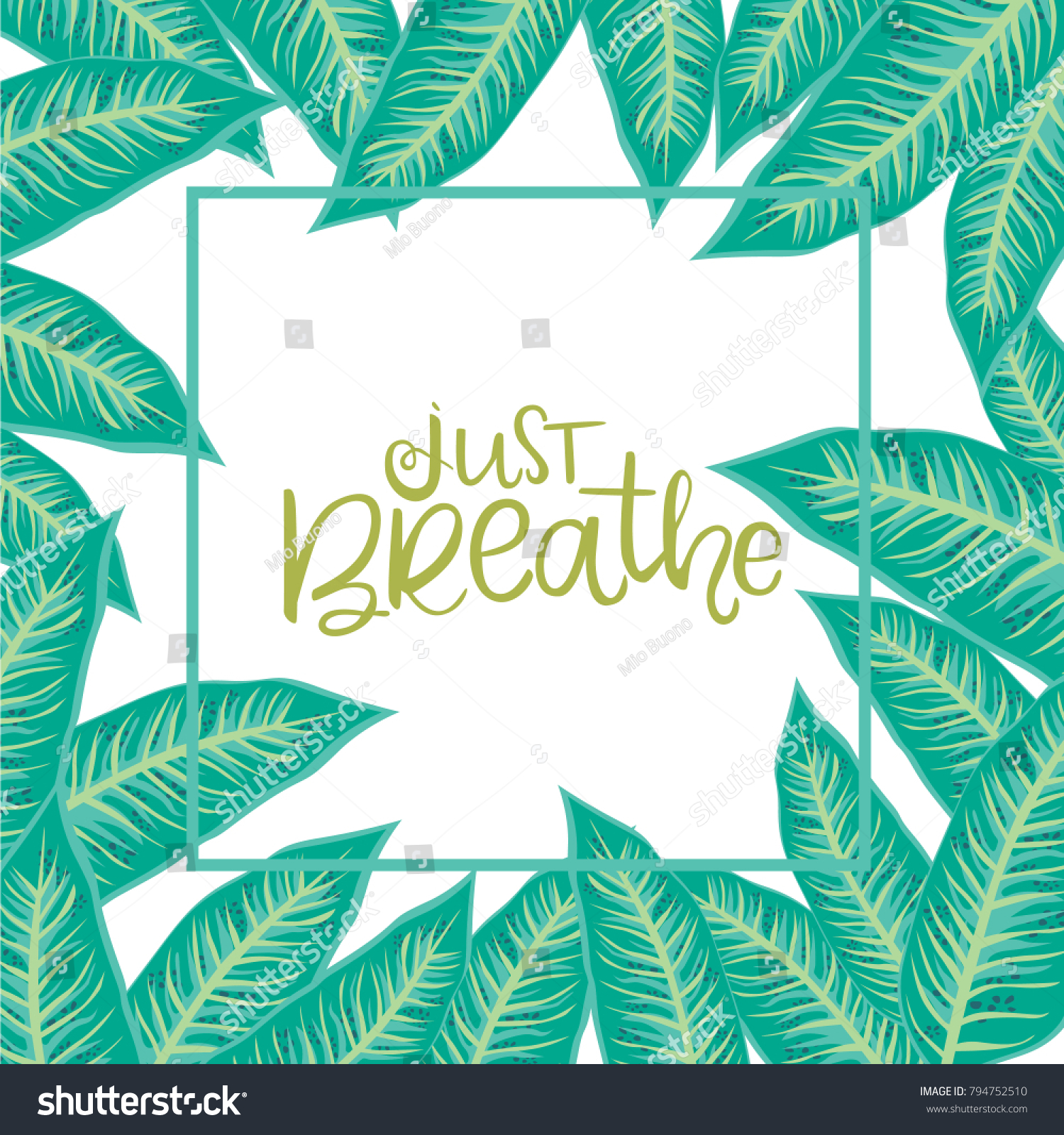 Tropical Card Invitation Greeting Card Promotion Stock Vector