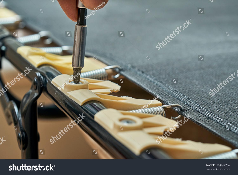 Mechanic Unscrewing Broken Plastic Bed Slat Stock Photo Edit Now