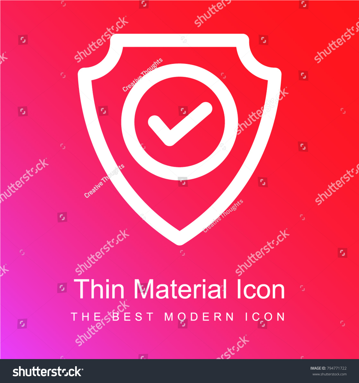 Safe Zone Red Pink Gradient Material Stock Vector Royalty Free
