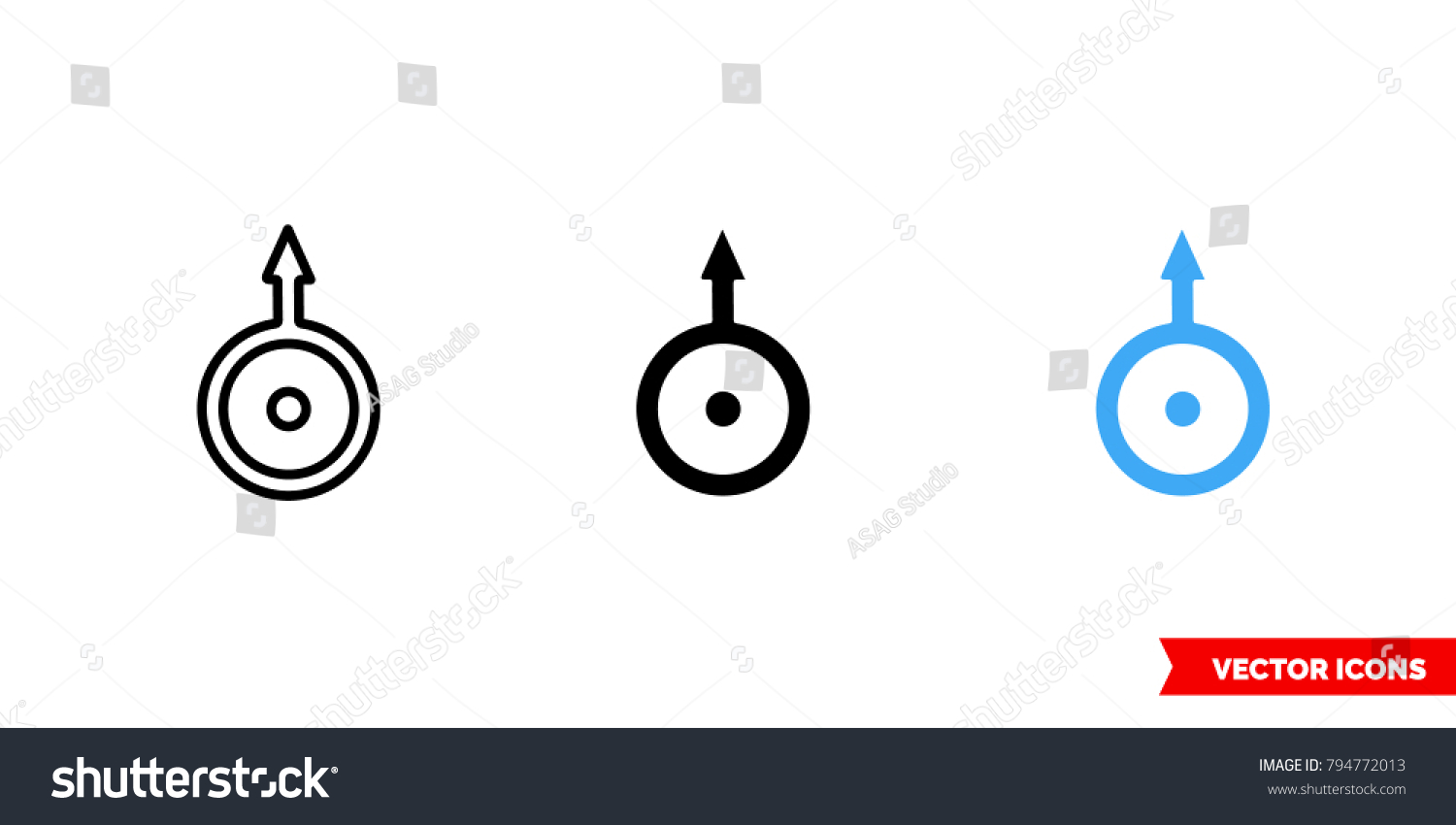 Uranus symbol icon 3 types color stock vector 794772013 shutterstock uranus symbol icon of 3 types color black and white outline isolated biocorpaavc Gallery
