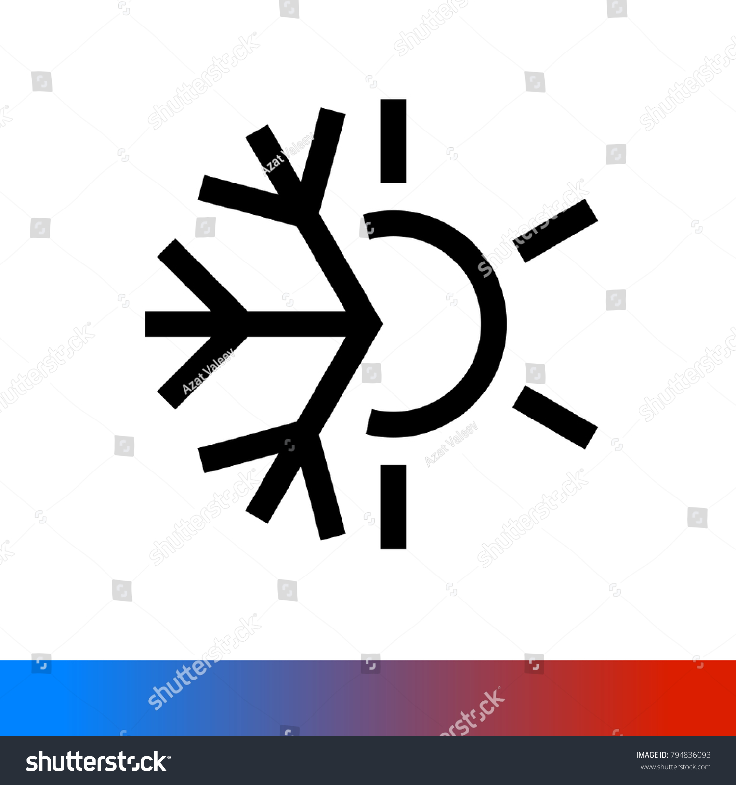 Weather Icon Half Snowflake Half Sun Stock Vector 2018 794836093