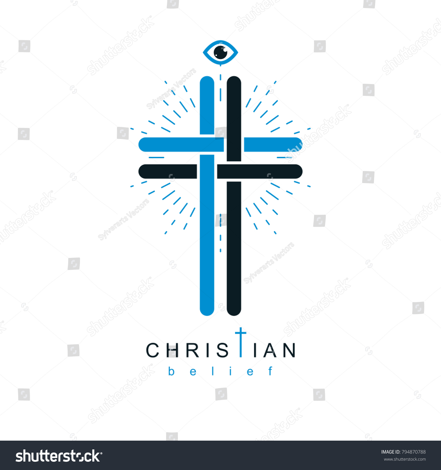 Christian cross vector symbol christianity god stock vector christian cross vector symbol christianity god religion icon biocorpaavc Gallery
