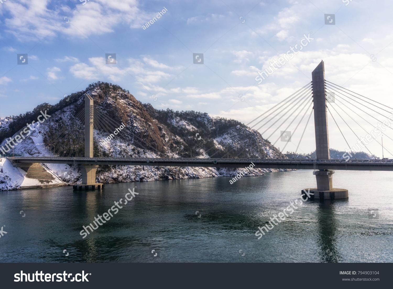 Jangja Island Bridge Coastal View Jangja Stock Photo Edit Now 794903104