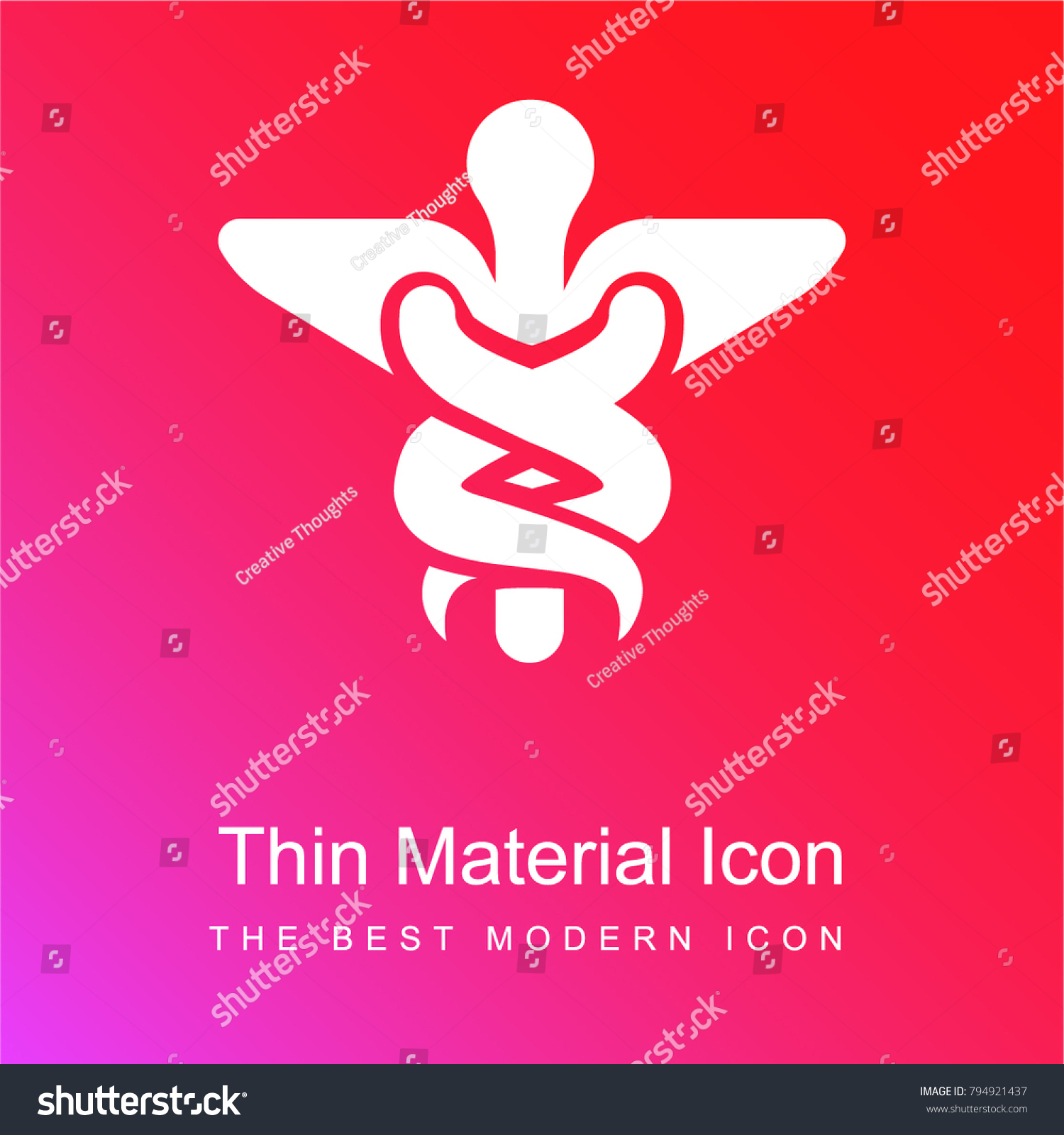 Caduceus medical symbol two ascending serpents stock vector caduceus medical symbol two ascending serpents stock vector 794921437 shutterstock buycottarizona Image collections