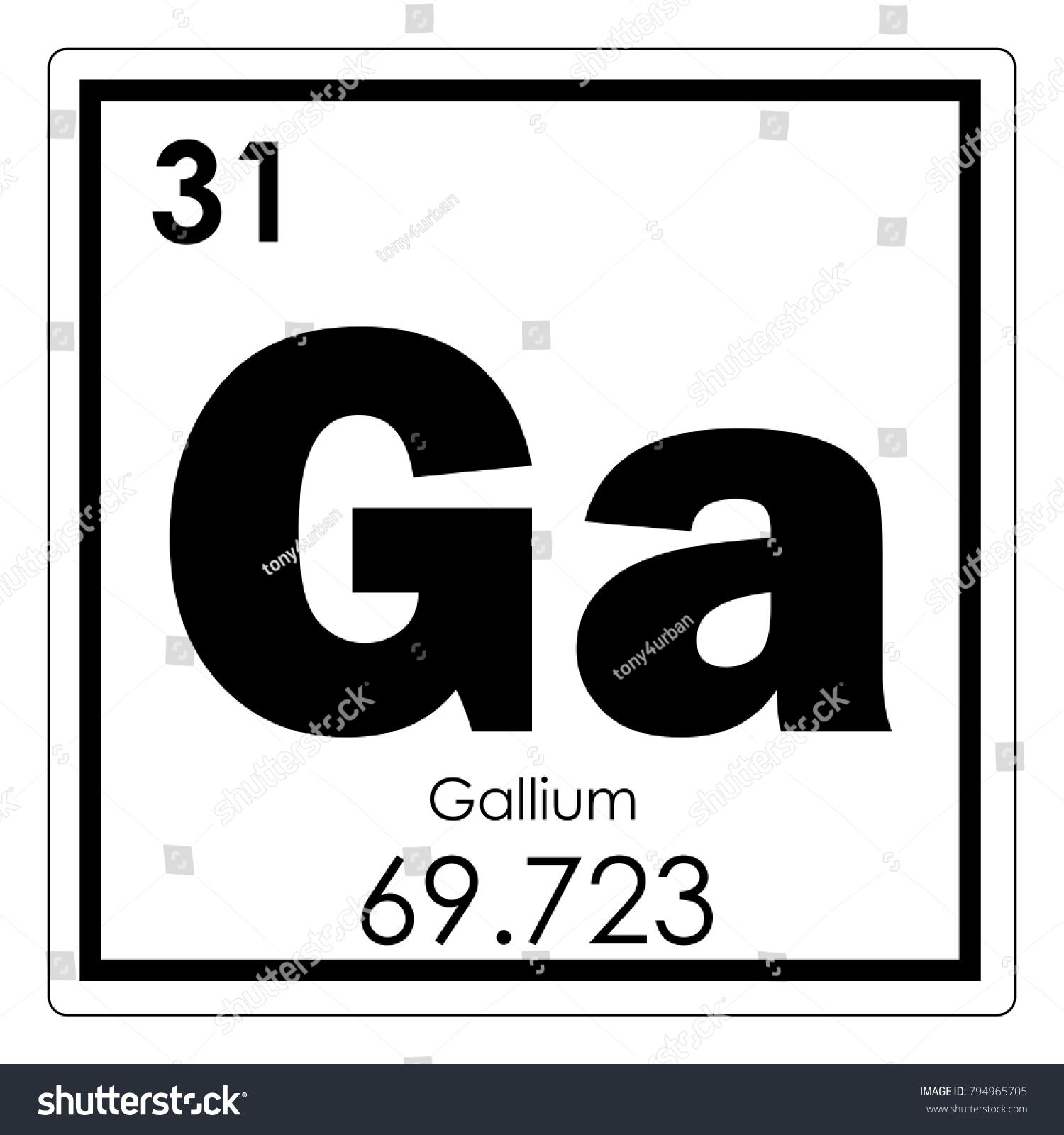 Gallium chemical element periodic table science stock illustration gallium chemical element periodic table science symbol urtaz Image collections