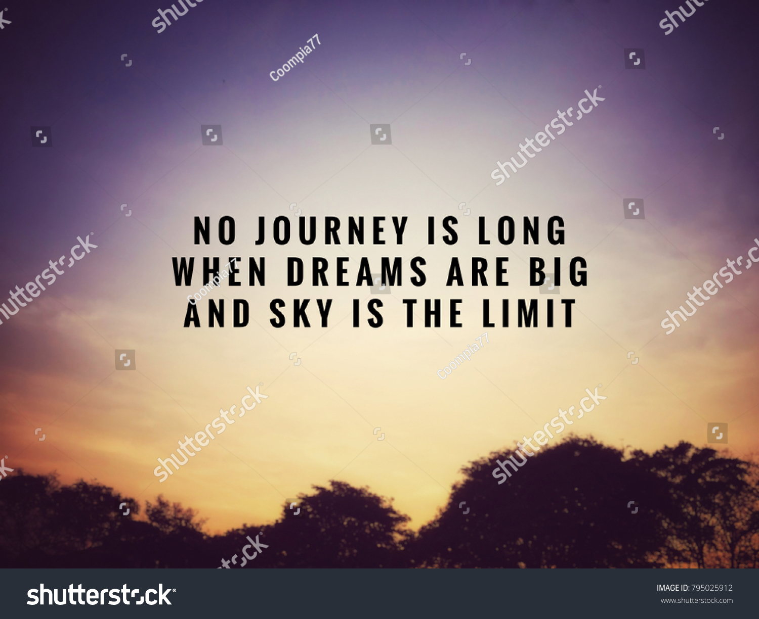 Motivational Inspirational Quotes No Journey Long Stock Photo Edit