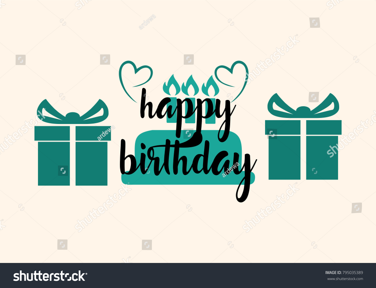 Happy Birthday Typographic Vector Design For Greeting Cards Print And Cloths Isolated Text