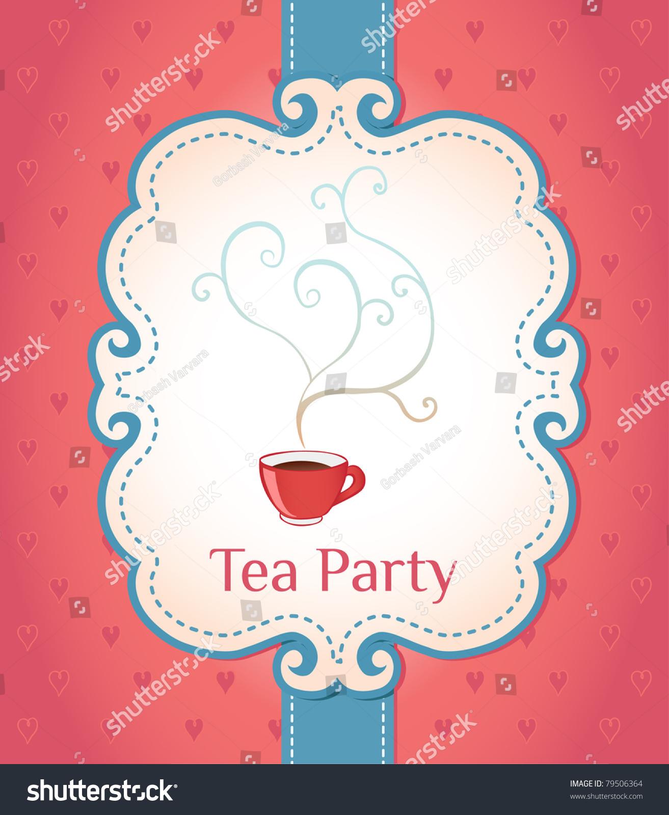 clipart tea party invitation - photo #41