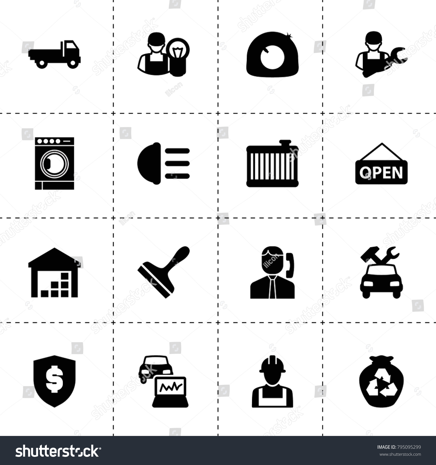 Service Icons Vector Collection Filled Service Stock Vector Hd