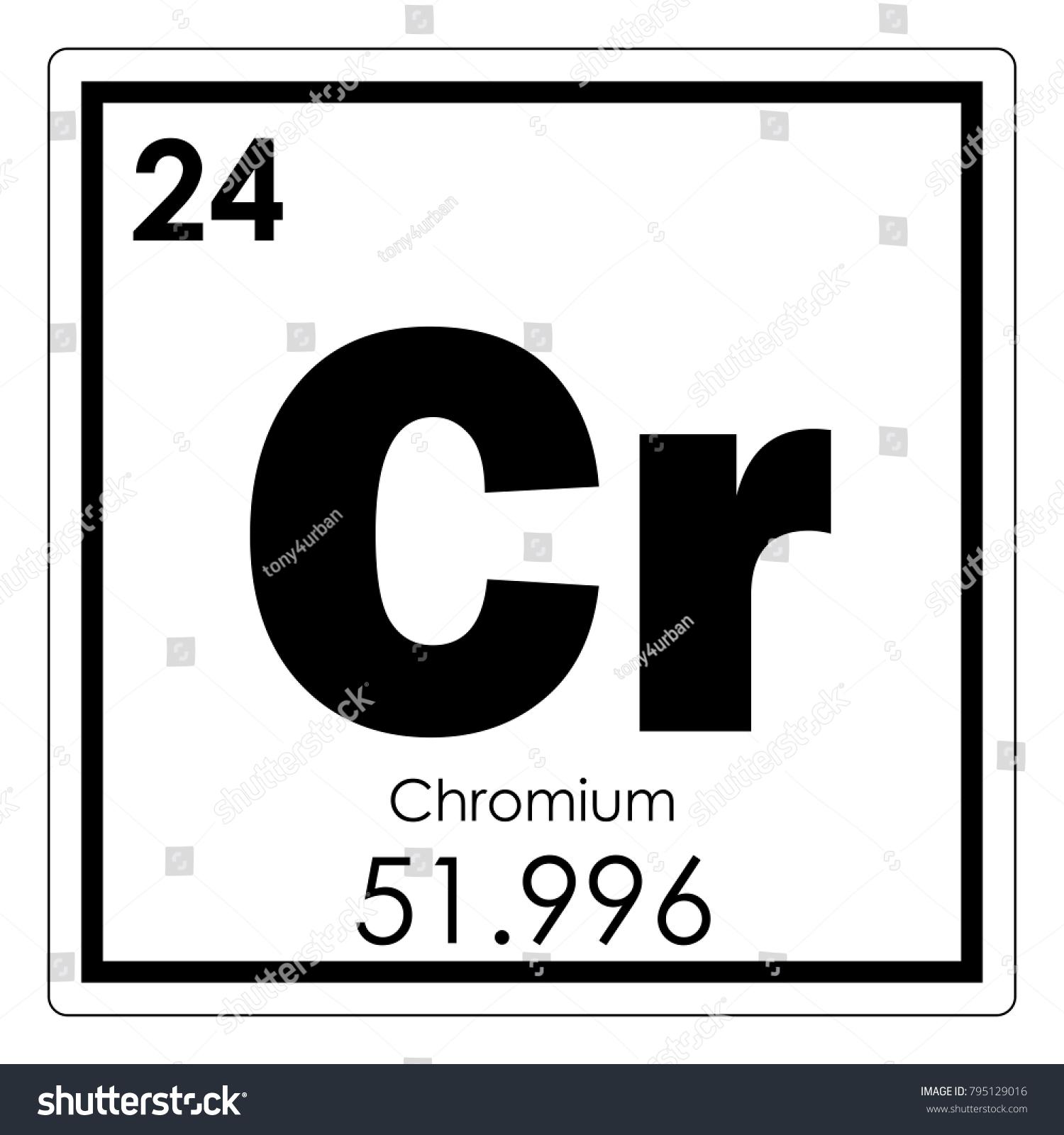 Chromium chemical element periodic table science stock illustration chromium chemical element periodic table science stock illustration 795129016 shutterstock urtaz Image collections