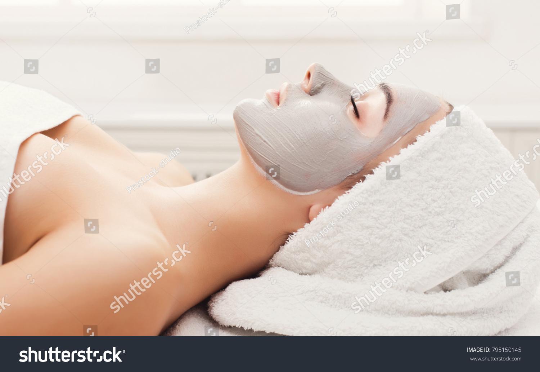 Face Mask Spa Beauty Treatment Woman Foto de stock (editar ahora ...