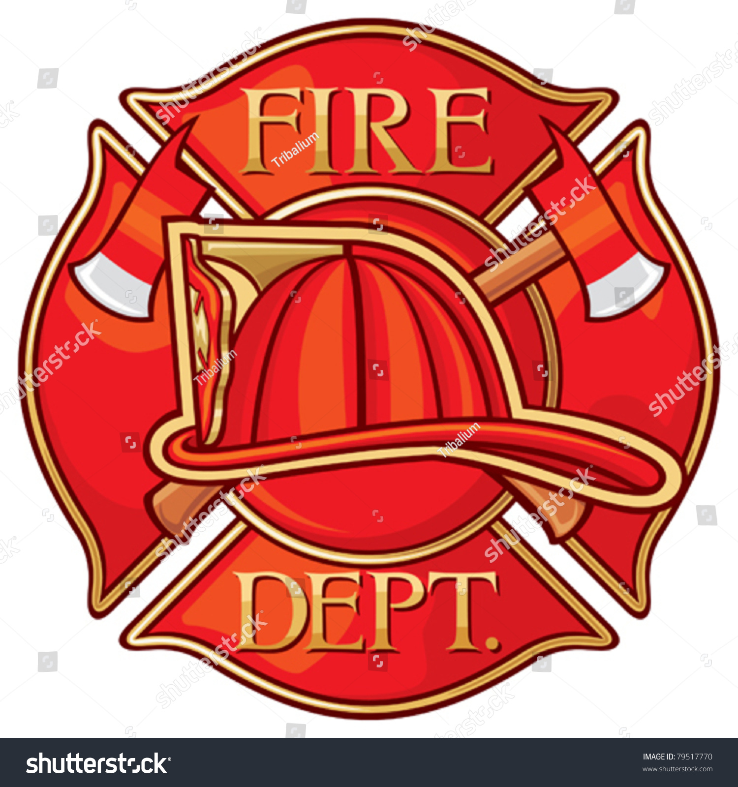 Fire Department Firefighters Maltese Cross Symbol Stock Vector ...