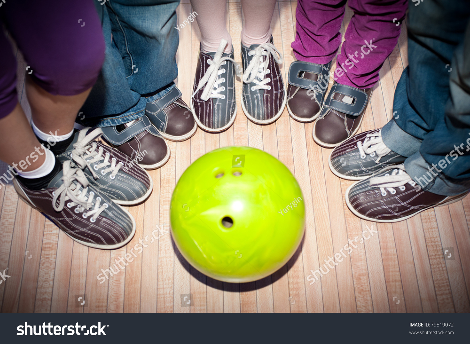 Childrens Feet Shoes Bowling Ball Game Stock Photo 79519072 ...